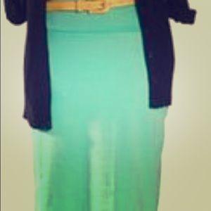 LuLaRoe Cassie High Waisted Pencil Skirt- Aqua